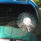 Tennis Ball Hit 3D Baseball Football Window Self Adhesive Window Car Sticker