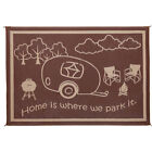 8' x 11' RV Home Mat Brown Beige Light-weight Soft Durable Easy to clean
