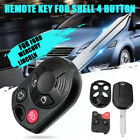 4 Button Auto Remote Key Fob Case Shell Uncut Blade New For Ford Mercury Lincoln