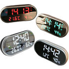Digital Alarm Clock With USB Charger Port Large LED Display Dimmer Easy Humidity