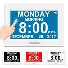 "iGuerburn Talking Day Clock 8"" Large Display Touchscreen Dementia, Seniors,..."