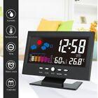LCD Screen Digital Back-Light Snooze AlarmClock Thermometer Weather Forecast DJ8