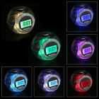 Color Changing Clock Watch LED Light With Nature Sounds Multifunctional Alarm