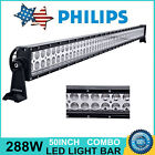 """Philips 50"""" 288W LED Light Bar Combo Offroad 4x4WD SUV Driving Truck Slim 48/51"""""""