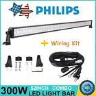 """52"""" 300W Philips LED Flood&Spot Light Bar Offroad SUV Jeep Ford Wire Harness 12V"""