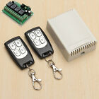 12V Relay 4CH Wireless Remote Control Switch 2 Transmitter + Receiver For Home
