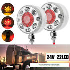 2x 24/28LED Tail Turn Stop Signal Brake Lights Auto Truck Trailer Buses Boat