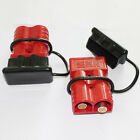 2 X Battery Red Quick Connect Disconnect Plug 350A 2/0 AWG with 2 caps Boat Car