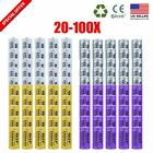 LOT 20X-100X 3.7V 2500mAh GIF 16340 CR123A Li-Ion Rechargeable Battery+4Charger