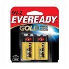EvereadyR Gold Alkaline 9-Volt Batteries, Pack Of 2