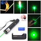 50Miles Green Laser Pointer Lazer Pen 532nm Visible Beam+16340 Battery+Charger
