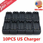 Dual Charger 10PCS for 3.7V 18650 Li-ion Rechargeable Flashlight Pen Battery US