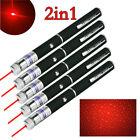 5X Aluminium Visible Light Red Laser Pointer Pen 10Miles 650nm Star Pattern Gift