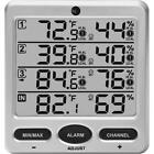 WS-10-C Wireless Indoor/Outdoor 8-Channel Thermo-Hygrometer, Console Only