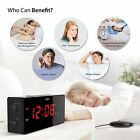 Vibrating Alarm Clock with Wired Bed Shaker Dual Ideal for Deaf Hearing Impaired