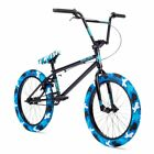 "Stolen X-Fiction 20"" BMX Bike Swat Blue Camo Complete BMX Bike"