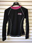 2017 FXR Womens Vapour 20% Merino Wool Base Layer Shirt Black/Pink Small