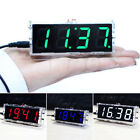 4-digit LED Digital Electronic Clock DIY Time Kit Light Temperature Control Tool