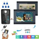 RFID Password Video Door Phone Doorbell  7inch 2 Monitors Wired / Wireless Wifi