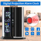 LCD Projection Digital Alarm Clock Weather Humidity Calendar Color Display LED