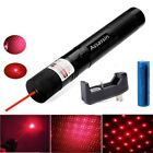 20Mile Red Laser Pointer Pen Bright Visible Beam Astronomy Lazer+Battery+Charger
