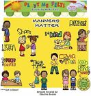 Manners Matter Felt Figures for Flannelboard Learning by Playtime Felts