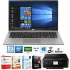 "LG gram 15.6"" Intel 8th Gen i5-8250U Ultra-Slim Laptop +Software +Printer Bundle"