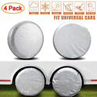 """Amfor Set of 4 Tire Covers,Waterproof Aluminum Film Tire Sun Tire 19"""" to 22"""""""