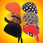 Do Rags Skull Caps-Biker Skull Caps-Set of SIX Assorted-Buy 2-Have Matching Sets