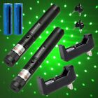 2PC Pet Toy Green Laser 20Mile Light Pointer Star Pattern 18650Battery&Charger