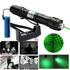 Astronomy Green Laser Pointer Visible Beam Bright Lazer+Star Cap+18650 Batt+Char