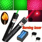 2X 30Miles 532/650nm Visible Red+Green Laser Pointer Pen Star Cap+Batt+Charger