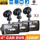 "3 Packs 4"" 1080P Car DVR Dual Dash Camrea  Recorder Night Vision G-Sensor 32G VI"