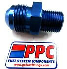 12 an Male Flare to 1 inch npt straight nipple adapter 816-12-16 blue  aluminum