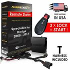 New Flashlogic Plug & Play Remote Start for Dodge 2008 - 2014 - FLRSCH4 / D