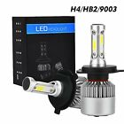 Pair High Power H4 9003 HB2 20000lm LED Headlight Bulbs For Ski-Doo Snowmobile