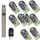 10X Push Button Battery 350mah Preheat o.pen Variable Voltage 510 SILVER 10x