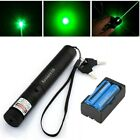 50Miles Assassin Green Laser Pointer Pen 532nm Visible Beam Lazer+2xBatt+Charger