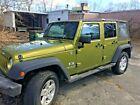 2007 Jeep Wrangler 4 DOOR 2007 UNLIMITED  4X4 JEEP WRANGLER AND BOSS PLOW