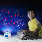 Home Music Starry Sky Projection Alarm Clock with Calendar and Thermometer Gift