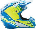 Fly Racing F2 HMK Helmet 73-49282X 2XL Blue/Hi Viz