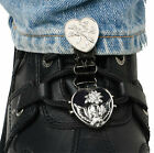Ryder Clips Laced Boots Two Clip Version HSLC-FC Heart Skull/Chrome