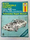 Haynes 19020 Buick, Oldsmobile, Pontiac full size models 1985-1995 repair manual