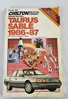 Chilton Repair Manual 7830 Ford TAURUS and MERCURY SABLE 1986-87 US Canadian