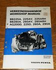 1980 Volvo Penta Engine Unit Workshop Manual BB225Am BB260A, AQ200D, 225D, 290A
