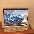 "Vintage JVC Television C-13011 13"" CRT TV *Tested* Retro White Gaming"