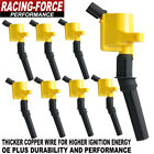 Pack of 8 Curved Boot DG508 Ignition Coil for Ford 4.6L 5.4L V8 Updated
