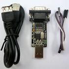2 in 1 USB COM TTL RS232 TTL 232 CH340T DB9 USB2.0 Cable Adapter Serial Port
