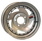 "15"" Silver Directional Trailer Wheel with Rivets (5-4.5)"