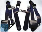 78-87 Chevrolet El Camino Retractable OE Style Bench Seat Belts W/ Center - Navy